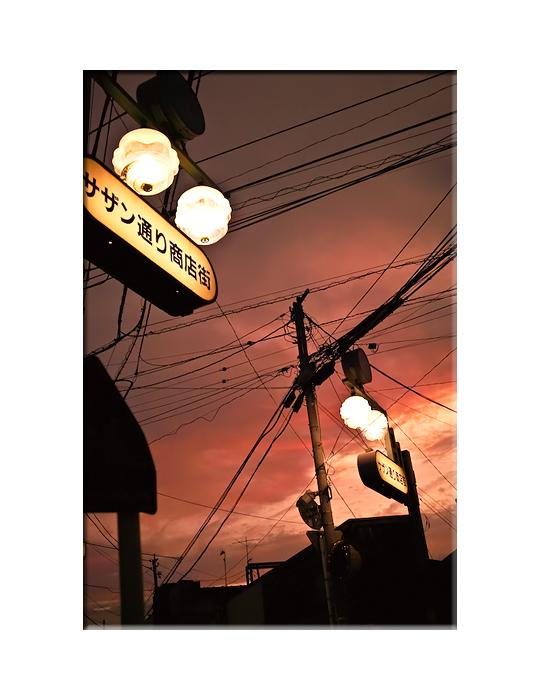 サザン通りの夕焼け。_e0139093_2222534.jpg