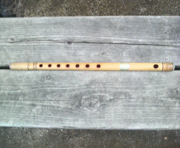 郷土芸能の竹笛の練習_d0150722_0325477.jpg