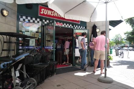 サンデーブランチにパンケーキ♪ 「Sunshine Diner」_d0129786_13163321.jpg