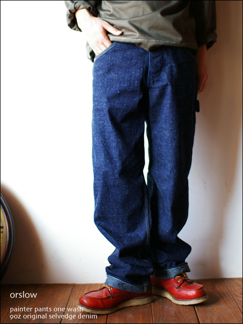 orslow [オアスロウ] PAINTER PANTS one wash 9oz original selvedge denim _f0051306_1834221.jpg