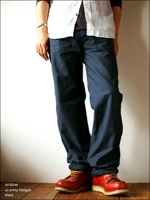 orslow [オアスロウ] us army pants fatigue [アーミーパンツ ファティーグ]_f0051306_1858368.jpg