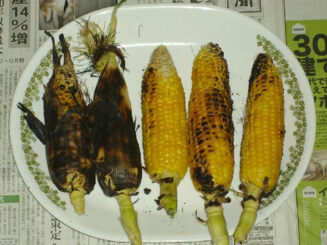 焼きトウモロコシ2種_f0018078_19165620.jpg