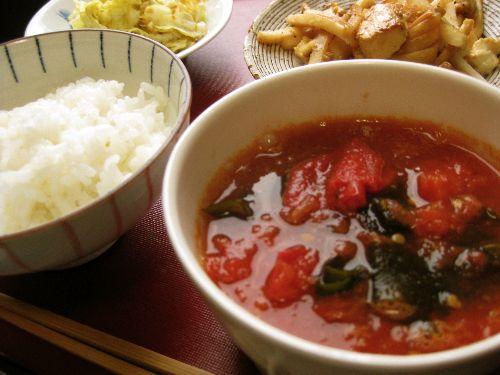 人参葉の海苔和え煮麺_e0110659_10302768.jpg