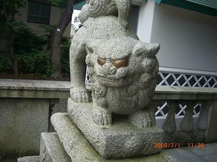 E区の狛犬 鹿骨・鹿島神社_d0065324_13495667.jpg