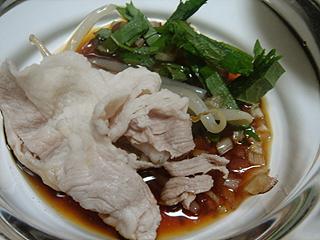 豚冷しゃぶとおかゆ_c0025217_1225660.jpg
