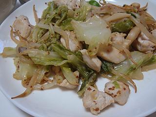 鶏むね肉のマスタード炒め_c0025217_0272878.jpg