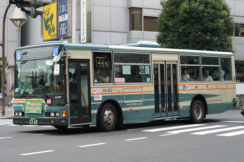 西武バス A9-362 吉祥寺駅前西武バス上石神井営業所の日産ディーゼル... 西武バス A9