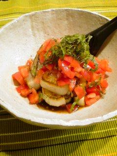 あーやっちゃった・・・大根ステーキのトマトぽん酢がけ。_f0177295_11364162.jpg