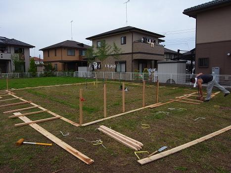 内原の家 工事着工 2009/7/13_a0039934_18204854.jpg