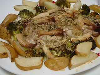 鶏とポテトときのこのオーブン焼き_c0025217_13594893.jpg