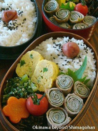 沖縄って、意外と涼しい・・・・ ☆今日のお弁当♪_c0139375_1254075.jpg