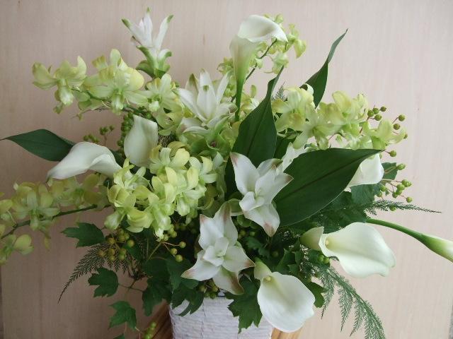 オークリーフ(funeral arangement)_f0049672_1575373.jpg