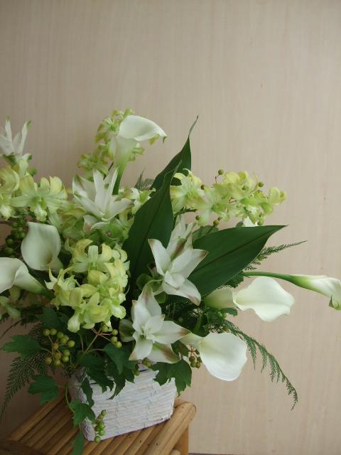 オークリーフ(funeral arangement)_f0049672_1582832.jpg