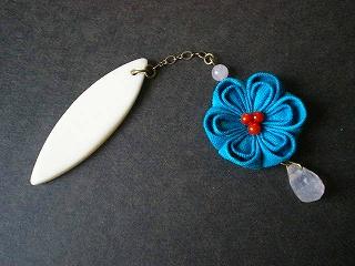 青いお花の帯飾り_e0168583_1742373.jpg