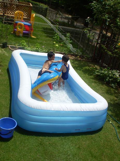 家のプール→夏祭り_a0139242_12515195.jpg