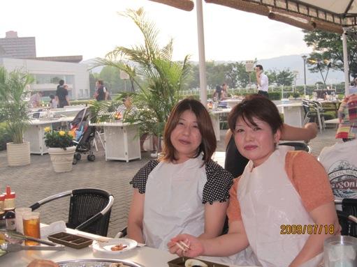 大津プリンスホテルのガーデンレストランでバーべキュー_b0100062_13102148.jpg