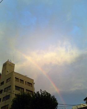 稽古場出てすぐ 虹が出てるよ~_a0132151_0111783.jpg