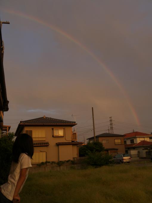 東の空には虹、西の空には夕焼_c0168669_1142252.jpg