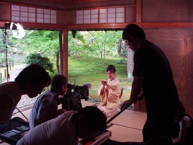 """CMの撮影が行われました """"清水園""""_e0135219_14303086.jpg"""