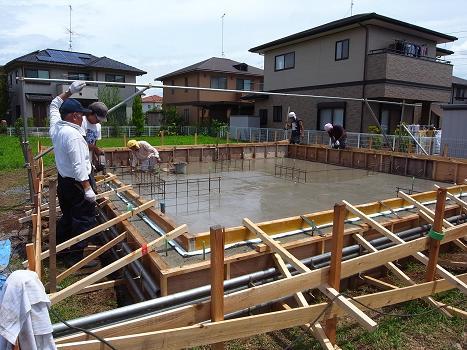 内原の家 コンクリート打設 2009/7/24_a0039934_183682.jpg