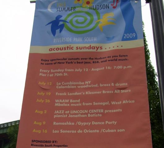 Riverside Parkのサマーイベント Summer on Hudson_b0007805_23273250.jpg