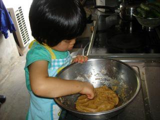 初クッキー作りにトライ!のマコ やっぱりクッキーにはコーヒーよ!_e0166301_23275678.jpg