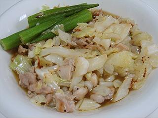 鶏と野菜炒めの冷やしカレーうどん_c0025217_1654749.jpg