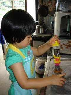 初クッキー作りにトライ!のマコ やっぱりクッキーにはコーヒーよ!_e0166301_0301541.jpg