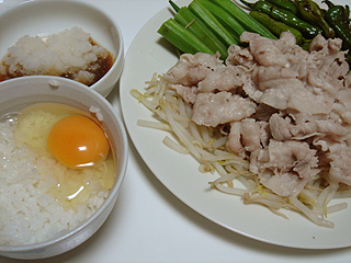 豚バラの冷しゃぶ夏野菜添え_c0025217_10591847.jpg