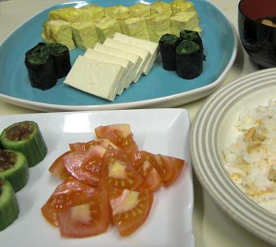 穏やかに作って、穏やかに食べた...夕食でした。_c0119140_1249362.jpg