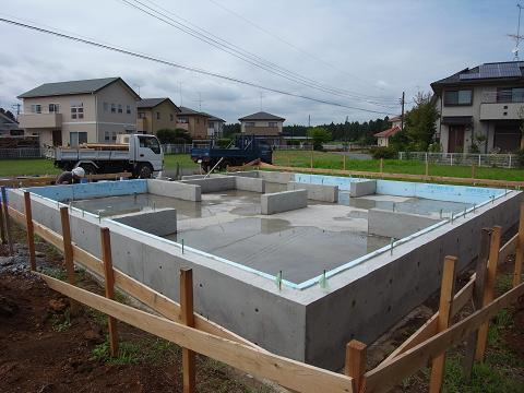 内原の家 基礎工事完了 2009/7/31_a0039934_18342861.jpg