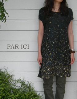 PAR ICI Little Starオフショルダーフレアーワンピース_a0130646_17315674.jpg