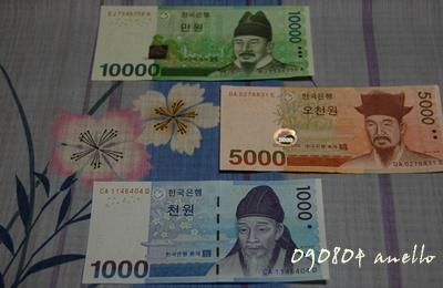 韓国のお金1
