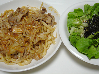 豚キムチ焼きうどん_c0025217_23252420.jpg