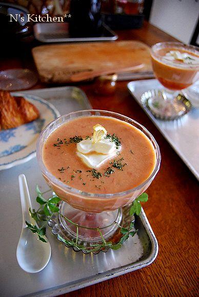 クックパッド & 冷製トマトスープ & 初パニーニ_a0105872_12564485.jpg