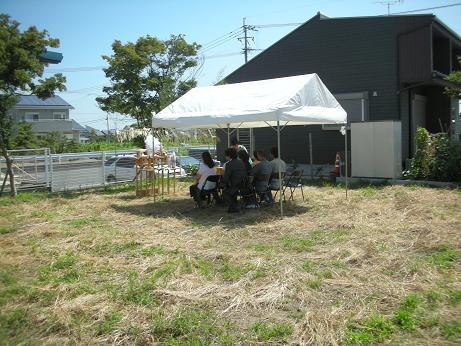 久留米市で地鎮祭!!_c0079640_14591843.jpg