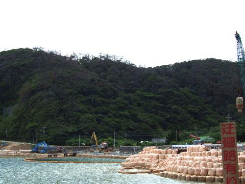 武名集落前、橋の架け替え工事と道の拡張工事中!_e0028387_0283587.jpg