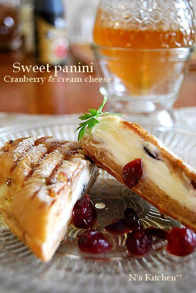 《ドライクランベリー》berryのSweet panini レシピコンテスト_a0105872_8561727.jpg