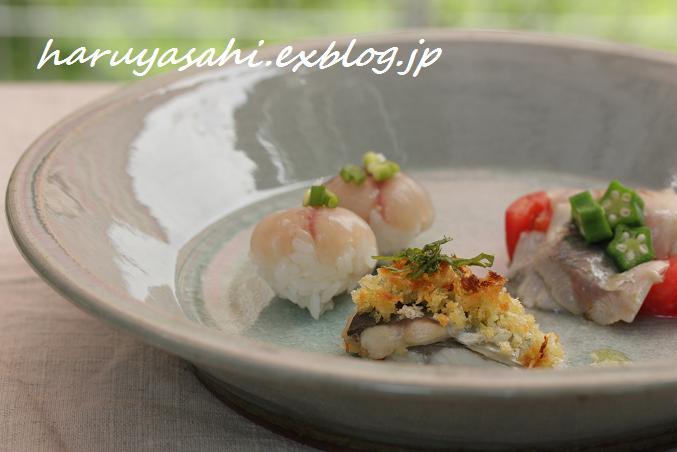 おもてなし前菜。お刺身を3種の味で!_b0165178_18514421.jpg