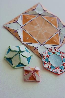 ハート 折り紙:折り紙キルト 作り方-kinamomo.exblog.jp