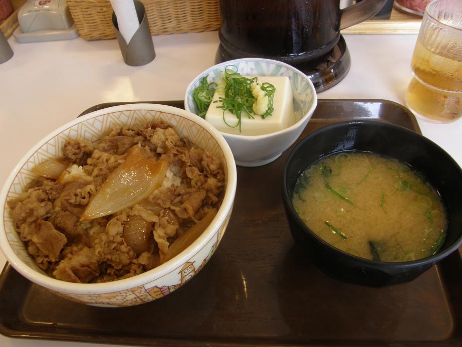 「すき家」の牛丼      中環大日店 _c0118393_9295870.jpg