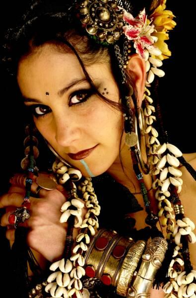Tribal Belly Dancer Face Paint
