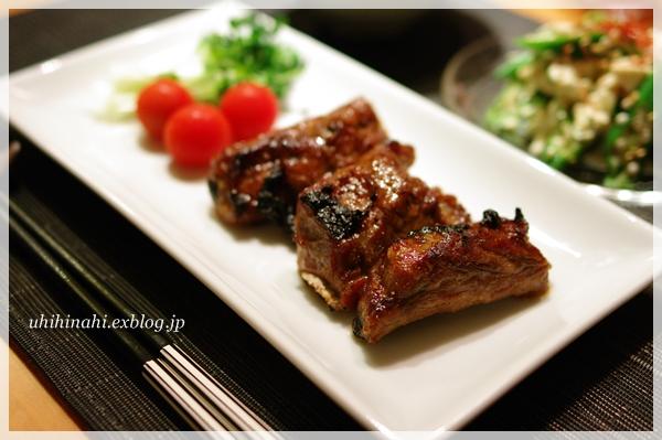オクラとくずし豆腐の胡麻しそナムル と スペアリブ_f0179404_21175517.jpg