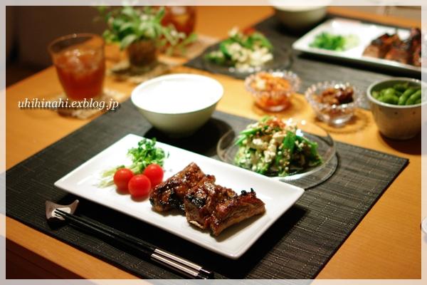 オクラとくずし豆腐の胡麻しそナムル と スペアリブ_f0179404_21291810.jpg