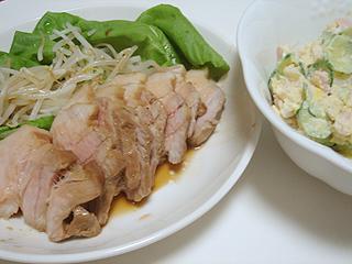 しょうゆ豚とポテトサラダ_c0025217_2358343.jpg