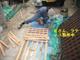 屋根塗装・ラティス塗装・玄関ドア塗装_f0031037_2195364.jpg