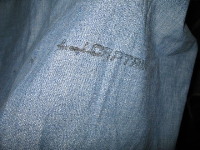 お盆休みなので、商品出しています!40'S WWⅡマチ付半袖シャンブレー ステンシル入り。_c0144020_152915.jpg