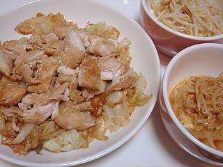 鶏ささみとキャベツのにんにく醤油焼き_c0025217_050475.jpg