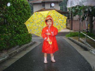 早起きマコちゃん!朝は雨降ってたのよ!_e0166301_15102245.jpg
