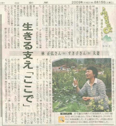 中日新聞西濃版連載「ふるさとよ 旧徳山に生きる」_f0197754_11422.jpg